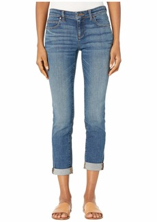 Eileen Fisher Organic Cotton Stretch Denim Boyfriend Jeans in Aged Indigo