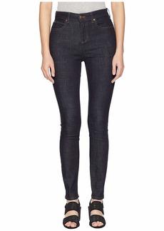 Eileen Fisher Organic Cotton Stretch Denim High-Waisted Skinny Jeans in Dark Denim
