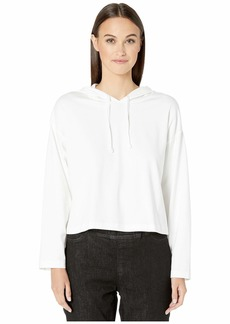 Eileen Fisher Organic Cotton Stretch Jersey Hooded Box-Top