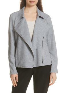 Eileen Fisher Organic Cotton Tweed Moto Jacket (Regular & Petite)