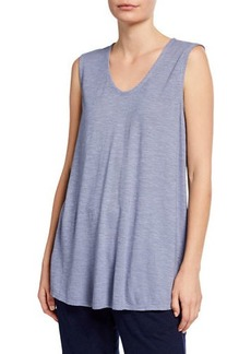 Eileen Fisher Organic Cotton Twist Soft V-Neck Long Shell