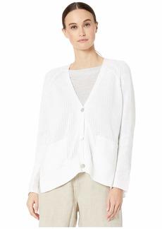 Eileen Fisher Organic Cotton V-Neck Cardigan
