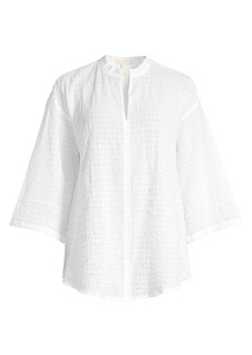 Eileen Fisher Organic Cotton Voile Three-Quarter Sleeve Blouse