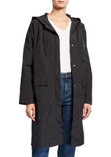 Eileen Fisher Organic Cotton/Nylon Hooded Coat
