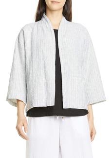 Eileen Fisher Organic Linen & Cotton Jacket
