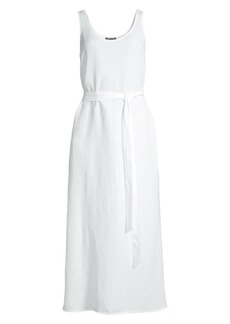 Eileen Fisher Organic Linen & Tencel Scoopneck Dress