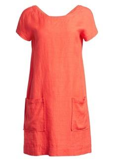 Eileen Fisher Organic Linen-Blend Crepe Dress