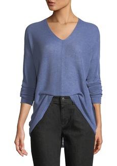 Eileen Fisher Organic Linen Box Sweater