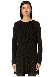 Eileen Fisher Organic Linen Cotton Round Neck Tunic