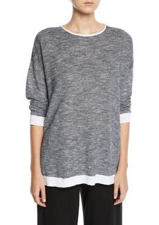 Eileen Fisher Organic Linen-Cotton Slub Top