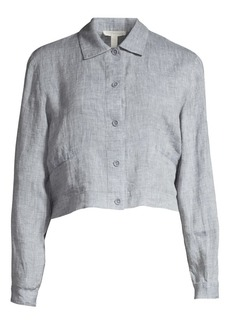 Eileen Fisher Organic Linen Cropped Jacket