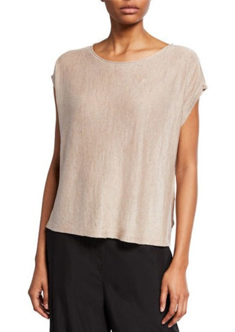 Eileen Fisher Organic Linen Delave Box Top