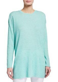 Eileen Fisher Organic Linen Delave Crewneck Box Sweater