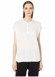 Eileen Fisher Organic Linen Jersey Mandarin Collar Tunic