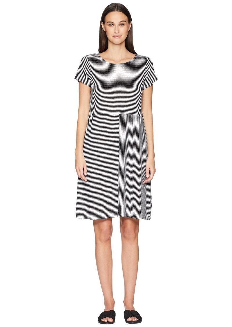 7e3b08b89a Eileen Fisher Organic Linen Jersey Stripe Dress