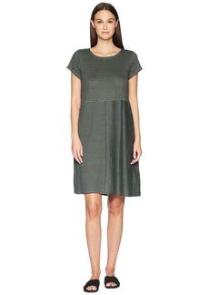 Eileen Fisher Organic Linen Jersey Stripe Dress