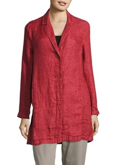 Eileen Fisher Organic Linen Long Jacket