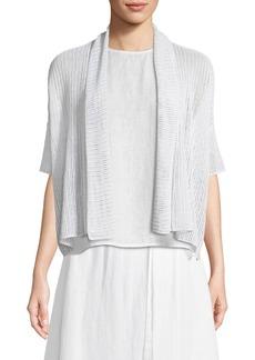 Eileen Fisher Organic Linen Open-Weave Short Cardigan