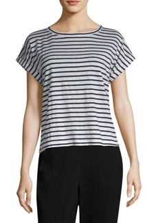 Eileen Fisher Organic Linen Seaside Stripe Top
