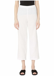 Eileen Fisher Organic Linen Straight Cropped Pants