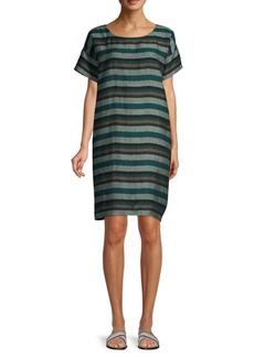 02065fd477c On Sale today! Eileen Fisher Twinkle Organic Linen Shift Dress