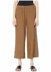 Eileen Fisher Organic Linen Wide Leg Cropped Pants