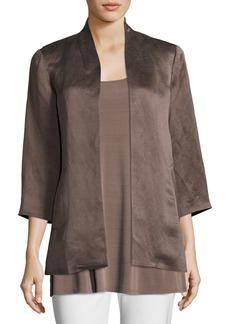 Eileen Fisher Organic-Linen/Silk Satin Jacket