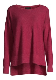 Eileen Fisher Organic Stretch-Linen Crepe Sweater