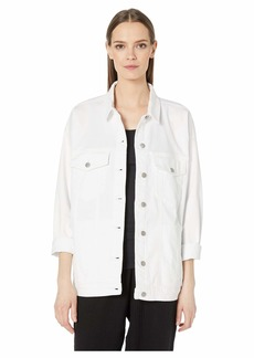 Eileen Fisher Oversized Classic Collar Long Jean Jacket