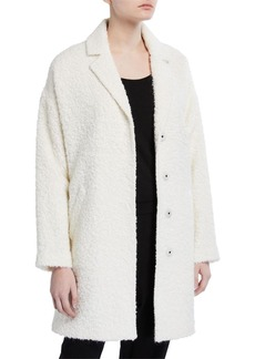 Eileen Fisher Oversized Curly Alpaca Coat