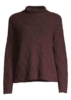 Eileen Fisher Peruvian Alpaca Fluff Funnelneck Sweater