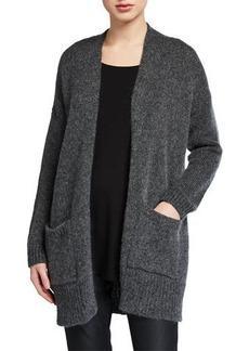 Eileen Fisher Petite Air Wool/Mohair Shawl-Collar Cardigan