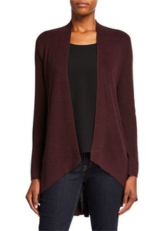 Eileen Fisher Petite Angle-Front Silk/Cashmere Cardigan