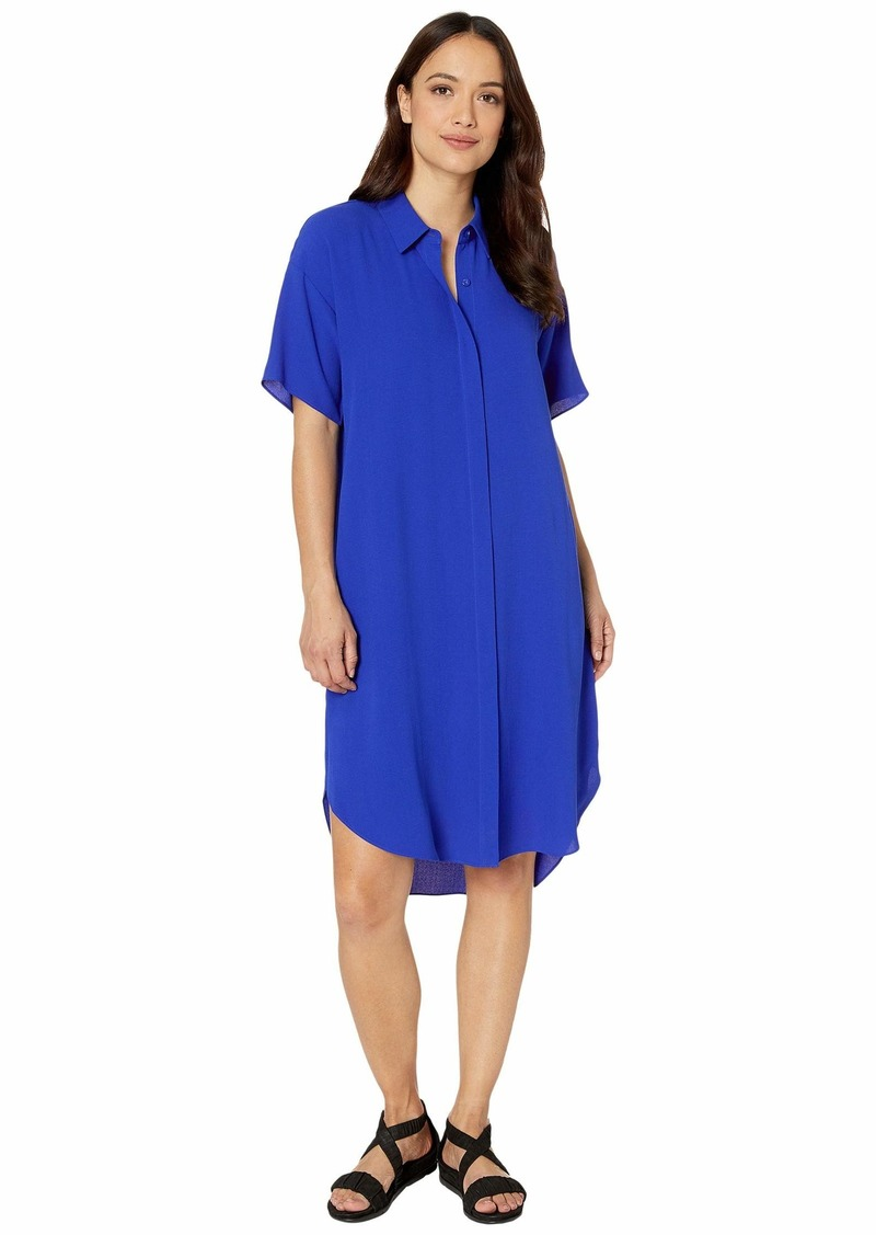 Eileen Fisher Petite Classic Collar Short Sleeve Dress