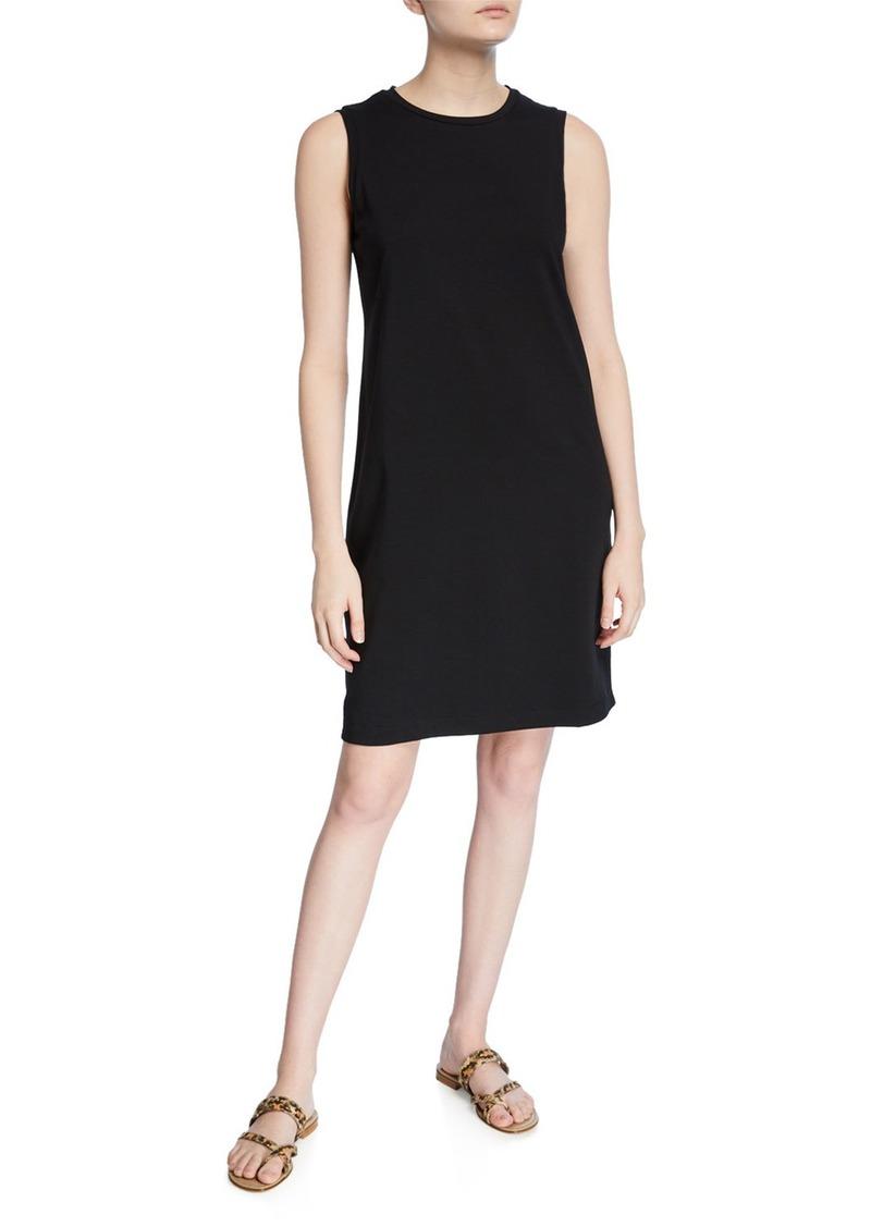 Eileen Fisher Petite Crewneck Organic Cotton Jersey Tank Dress