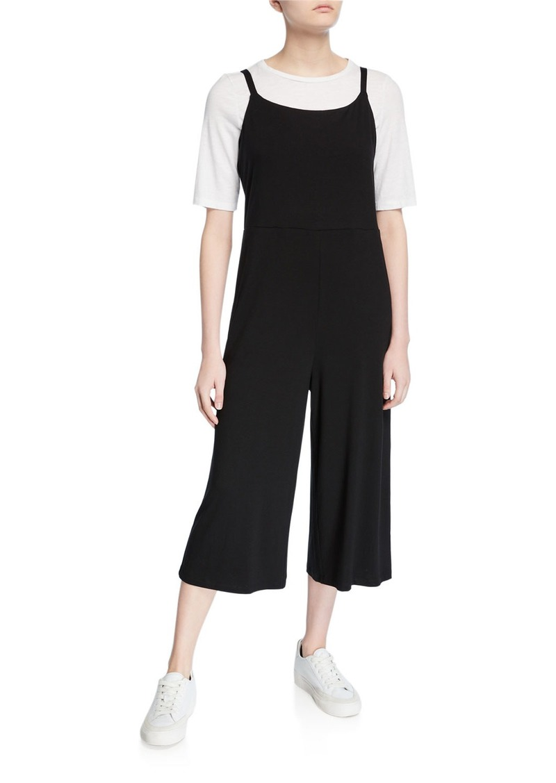 Eileen Fisher Petite Cropped Jersey Cami Jumpsuit
