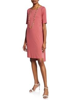 Eileen Fisher Petite Half-Sleeve High-Low Jersey Dress