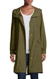 Eileen Fisher Petite Hooded Long Anorak Jacket