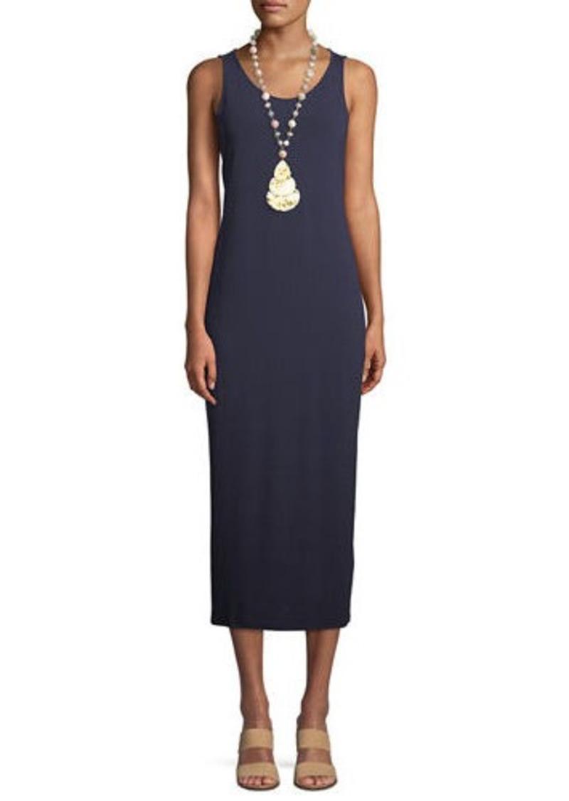 Eileen Fisher Petite Jersey Scoop-Neck Midi Dress