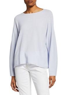 Eileen Fisher Petite Jewel-Neck Long-Sleeve Top