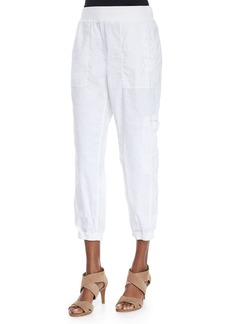 Eileen Fisher Petite Linen-Blend Cargo Ankle Pants