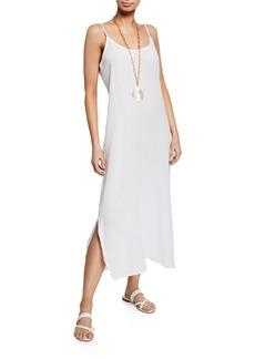Eileen Fisher Petite Lofty Organic Cotton Gauze Maxi Slip Dress