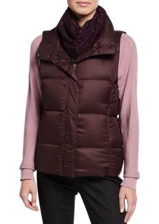 Eileen Fisher Petite Nylon Funnel-Neck Puffer Vest
