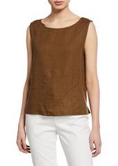 Eileen Fisher Petite Organic Handkerchief Linen A-Line Shell