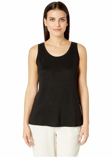 Eileen Fisher Petite Organic Linen Jersey U-Neck Long Tank Top