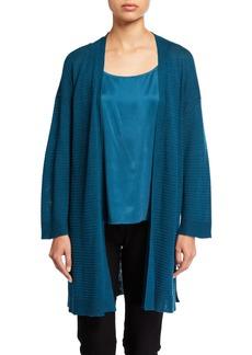 Eileen Fisher Petite Organic Linen/Cotton Bracelet-Sleeve Kimono Cardigan