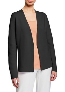 Eileen Fisher Petite Shaped Silk/Organic Cotton Interlock Cardigan