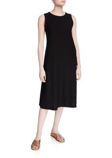 Eileen Fisher Petite Sleeveless Crepe Midi Dress
