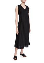 Eileen Fisher Petite Sleeveless Organic Handkerchief Linen Raw-Hem Dress