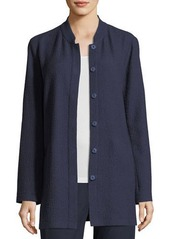 Eileen Fisher Petite Textural Cotton Stretch Jacket
